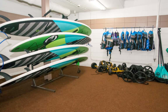 Free Paddle Board at Calhoun Towers, Minneapolis, Minnesota