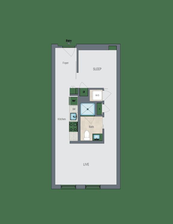 A1C Floor Plan at Reed Row, Washington, 20009