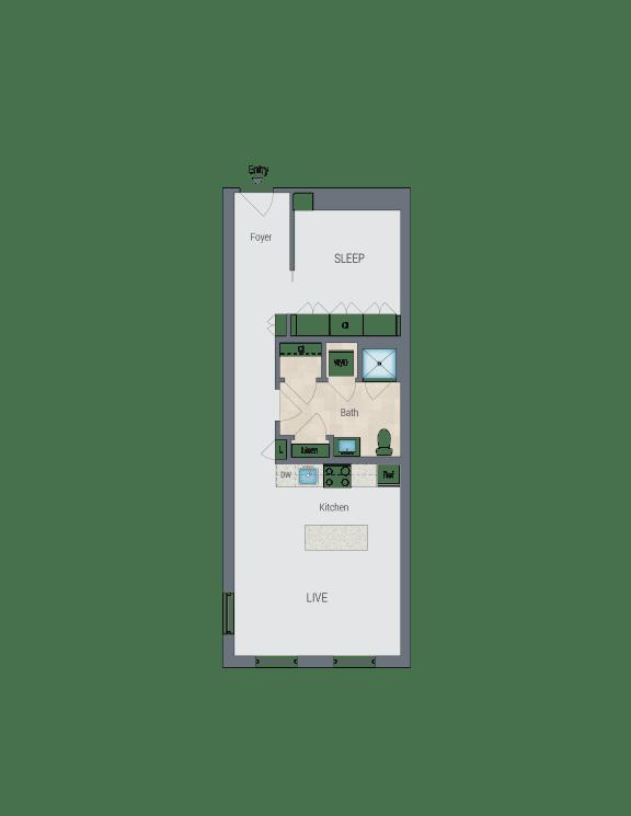 A1T Floor Plan at Reed Row, Washington, Washington