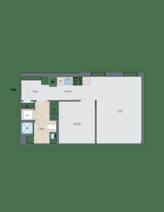 A2 Floor Plan at Reed Row, Washington