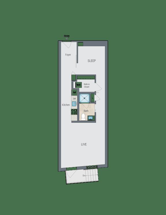 AMS1 Floor Plan at Reed Row, Washington, Washington