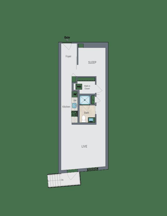 AMS3 Floor Plan at Reed Row, Washington
