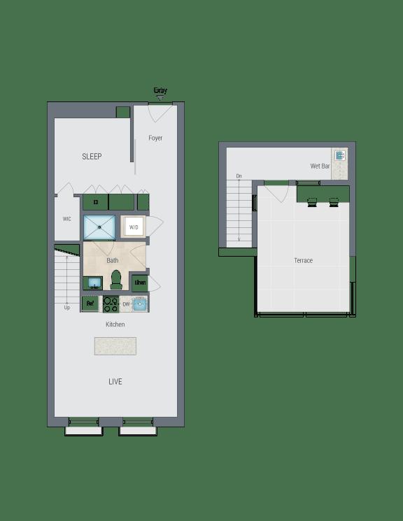 AR6 Floor Plan at Reed Row, Washington, DC