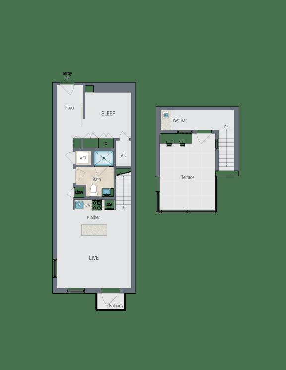 AR7 Floor Plan at Reed Row, Washington, 20009