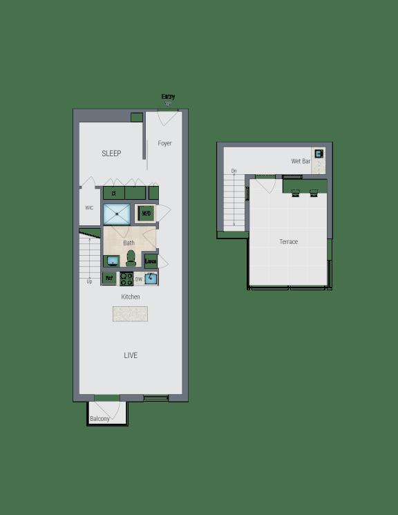 AR9 Floor Plan at Reed Row, Washington, DC, 20009