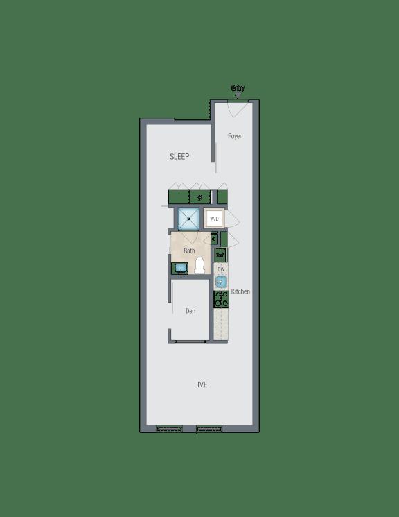 B2 Floor Plan at Reed Row, Washington