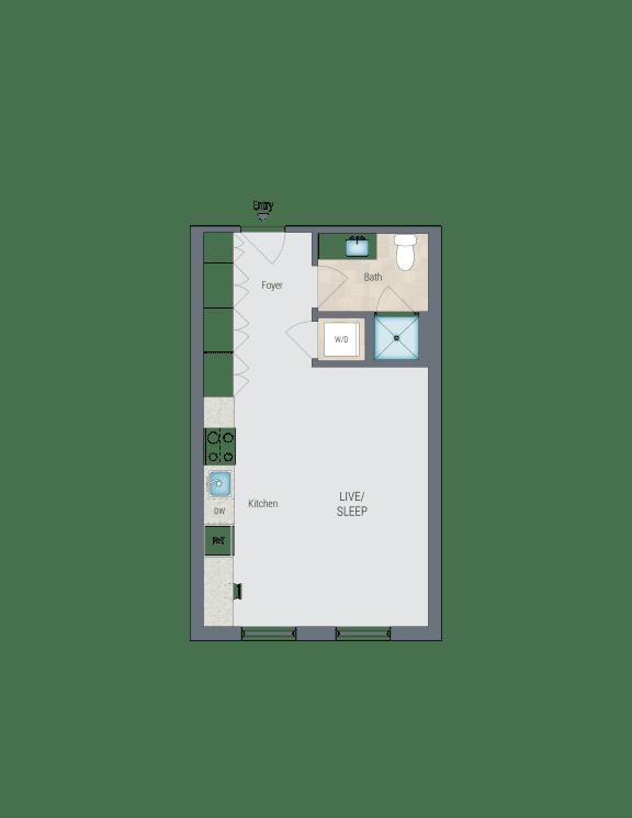 S1 Floor Plan at Reed Row, Washington