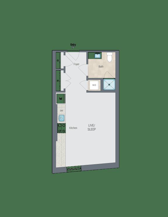 S1B Floor Plan at Reed Row, Washington, 20009
