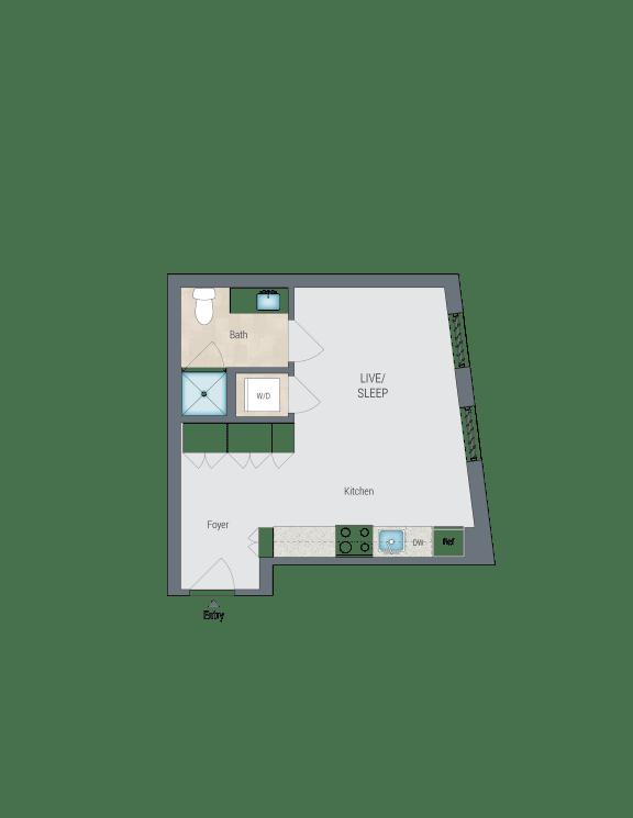 S2 Floor Plan at Reed Row, Washington, DC, 20009