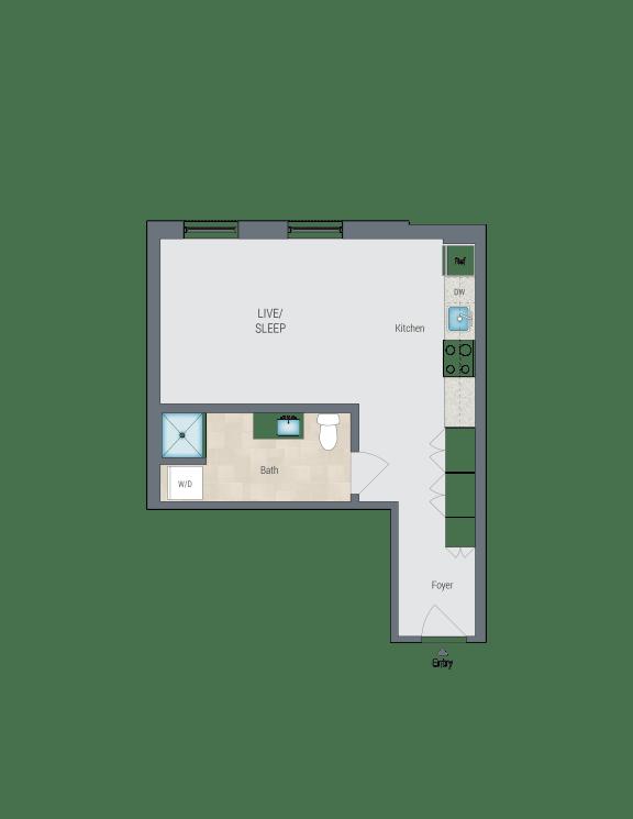 S4 Floor Plan at Reed Row, Washington, 20009