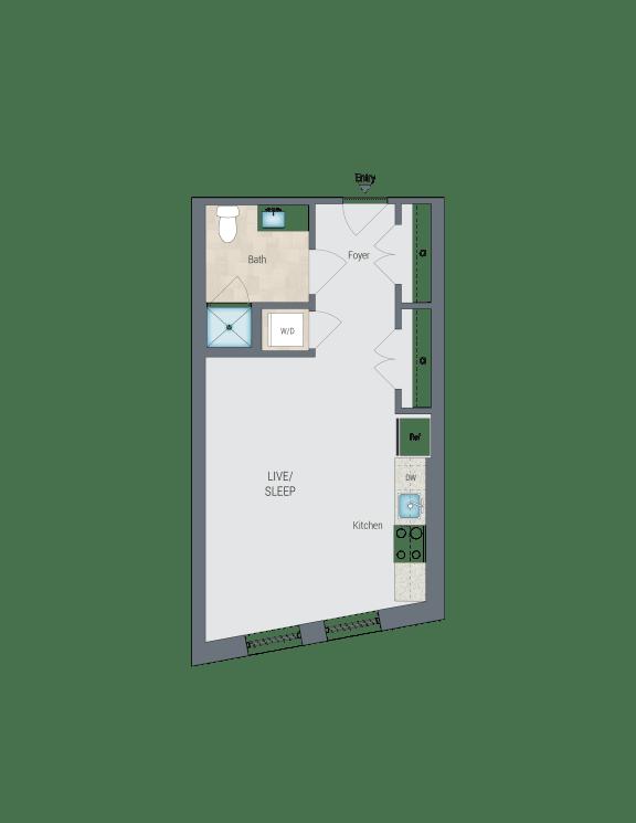 STA Floor Plan at Reed Row, Washington, DC