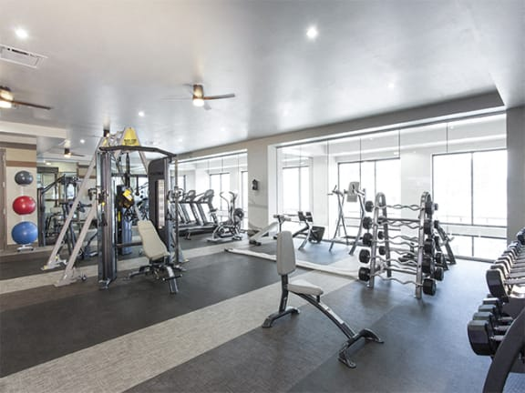 Fully Equipped Fitness Center at Alara Union Station, Denver