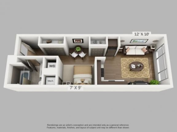 Floor Plan  Journey Floorplan at  ALARA Union Station Apartment Homes, Denver, 80202