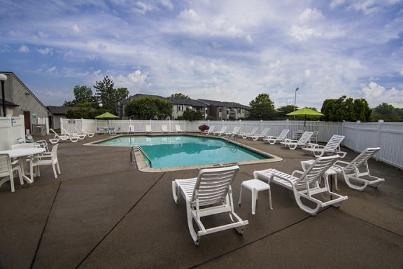 Heated Pool and Sundeck at Three Oaks Apartments in Troy, MI