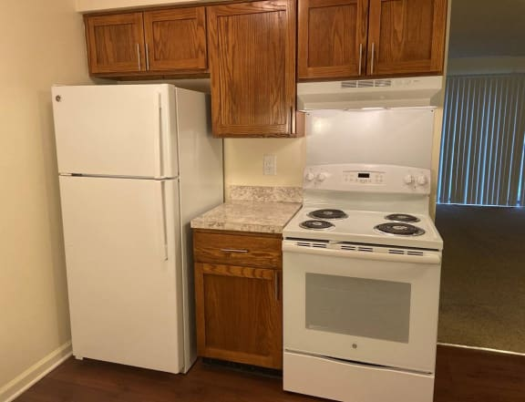 Updated Kitchen at Lakeside Village Apartments, Clinton Township 48038