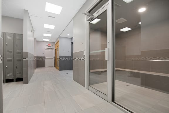 Steam Rooms and Locker Rooms Fitness Center at Lakeside Village Apartments, Clinton Township 48038