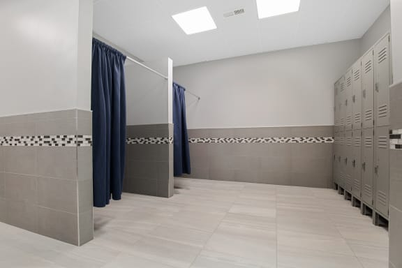 fitness bathroom at Lakeside Village Apartments, Clinton Township, MI