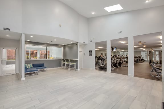 fitness center at Lakeside Village Apartments, Clinton Township, Michigan