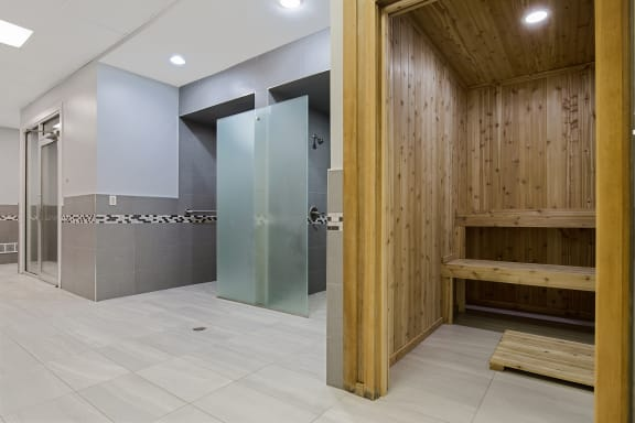 Saunas and Steam Rooms Fitness Center at Lakeside Village Apartments, Clinton Township 48038