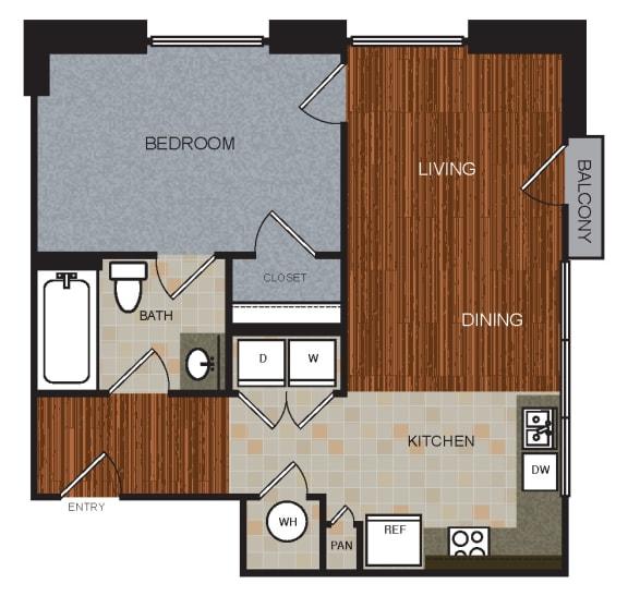 A1 Floor Plan at Berkshire Riverview, Texas