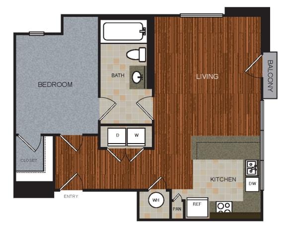 A4 Floor Plan at Berkshire Riverview, Austin, TX