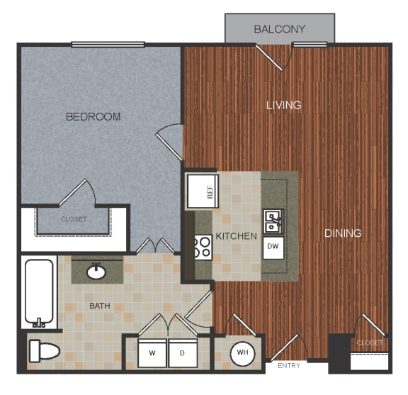 A5 Floor Plan at Berkshire Riverview, Texas, 78741
