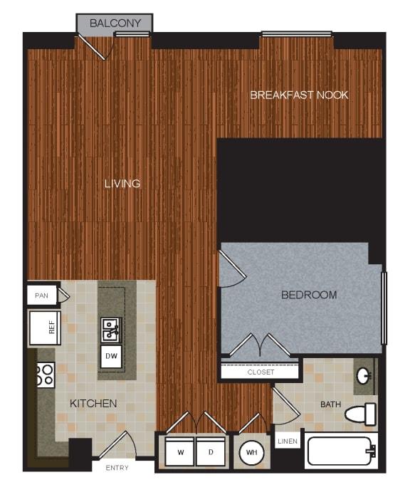 A9 Floor Plan at Berkshire Riverview, Austin