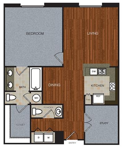B3DP Floor Plan at Berkshire Riverview, Austin, TX, 78741