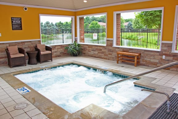 Large Indoor Hot Tub - Jacuzzi at Dover Hills Aparments in Kalamazoo, Michigan