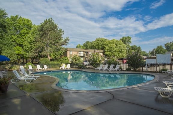 Heated Pool (open April - October) at Westwood Village Apartments in Westland, MI 48185