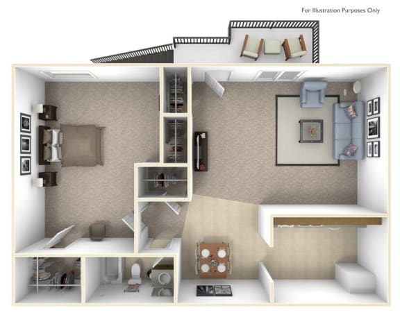 The Spruce Floor Plan at Cary Pines Apartments and Townhomes*, Cary, 27511