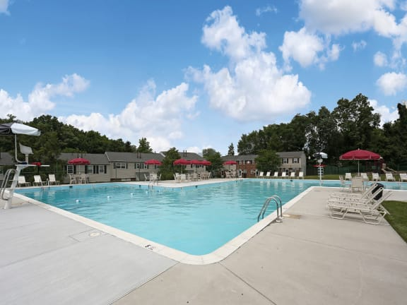 Huge private swimming pool at Carlson Woods, Village of Pine Run Apartments and Townhomes
