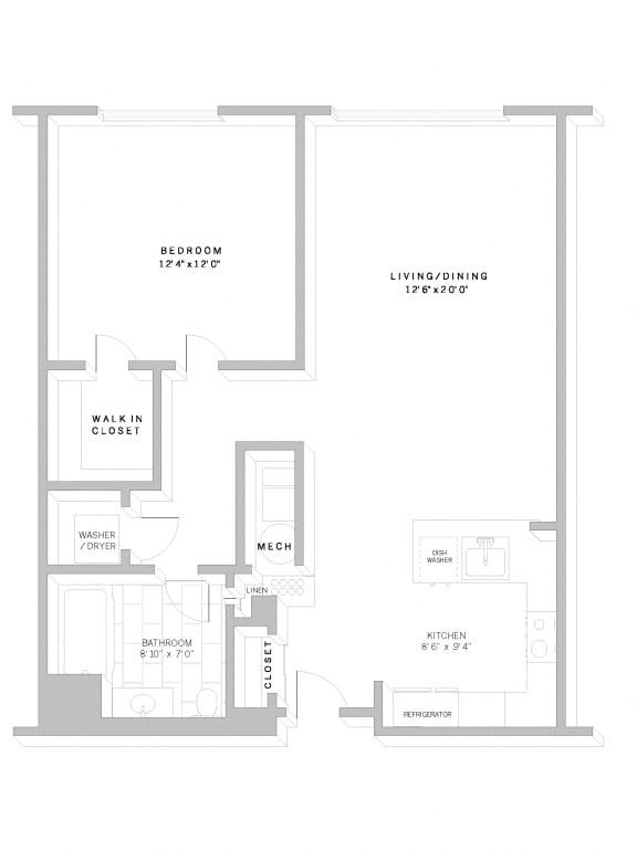 Floor Plan A1 at AVE Florham Park, Florham Park, NJ