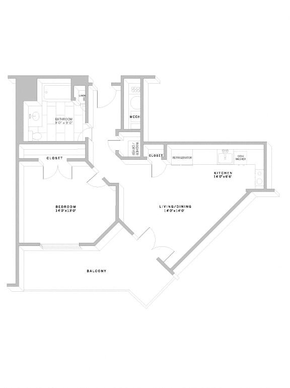 Floor Plan A10 at AVE Florham Park, Florham Park, 07932