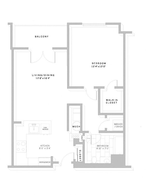 Floor Plan A2 at AVE Florham Park, Florham Park, New Jersey