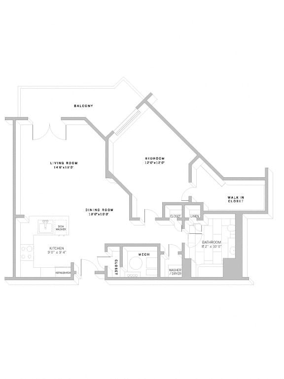 Floor Plan A8 at AVE Florham Park, Florham Park, 07932