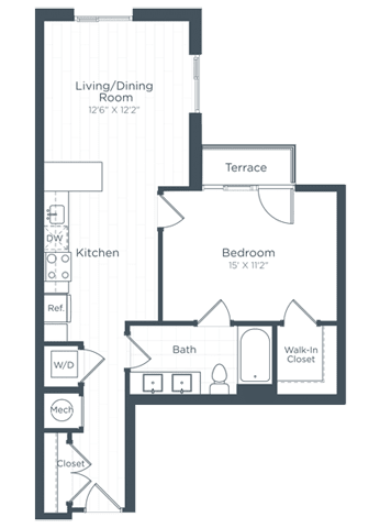 A5 Floor Plan at Highgate at the Mile, McLean, Virginia