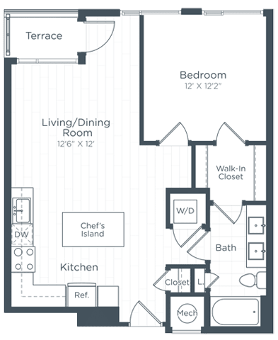 A7 Floor Plan at Highgate at the Mile, McLean, VA