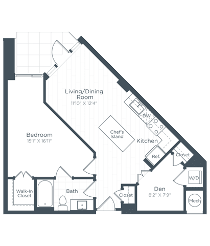 AD1 Floor Plan at Highgate at the Mile, McLean, Virginia