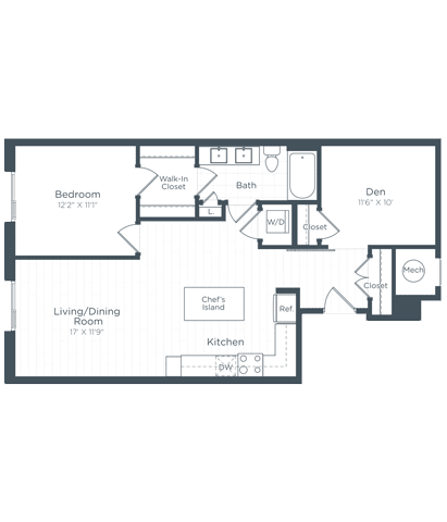 AD3 Floor Plan at Highgate at the Mile, McLean