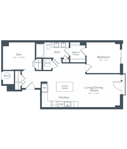 AD3 Floor Plan at Highgate at the Mile, Virginia