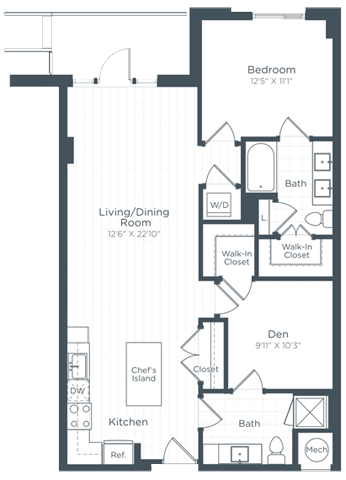 AD5 Floor Plan at Highgate at the Mile, McLean, Virginia