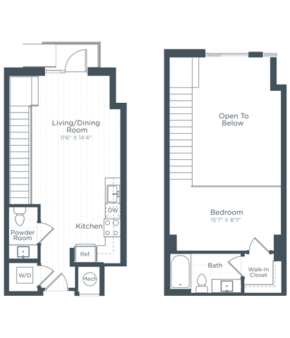 AL1 Floor Plan at Highgate at the Mile, Virginia