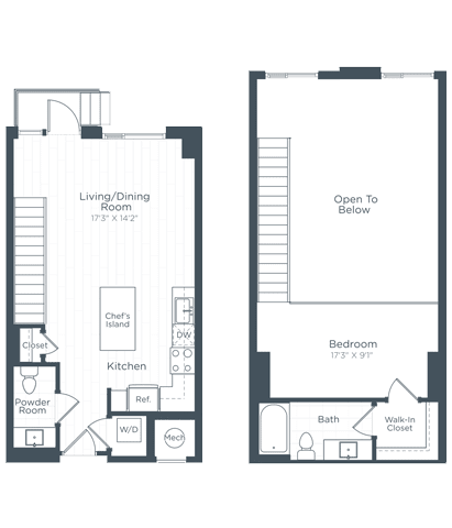 AL2 Floor Plan at Highgate at the Mile, Virginia, 22102