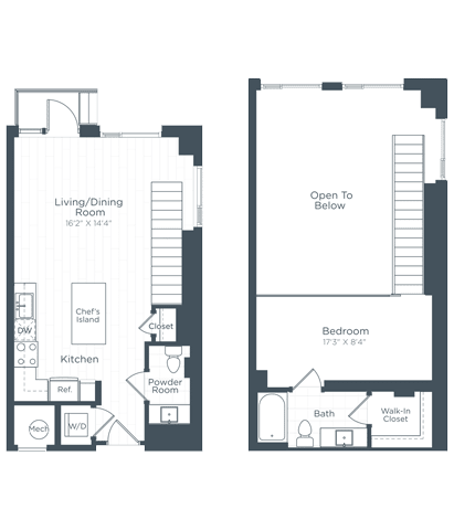 AL3 Floor Plan at Highgate at the Mile, McLean, VA, 22102