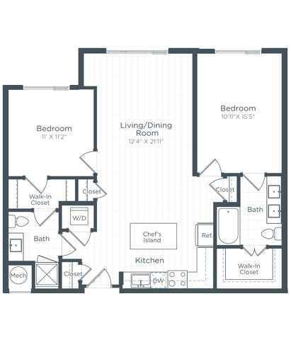 B3 Floor Plan at Highgate at the Mile, McLean, VA, 22102