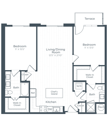 B4 Floor Plan at Highgate at the Mile, McLean, VA