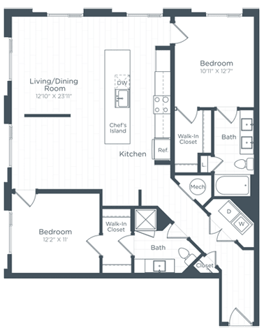B7 Floor Plan at Highgate at the Mile, McLean