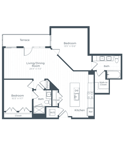 B8 Floor Plan at Highgate at the Mile, Virginia