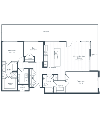 BD8 Floor Plan at Highgate at the Mile, McLean, VA